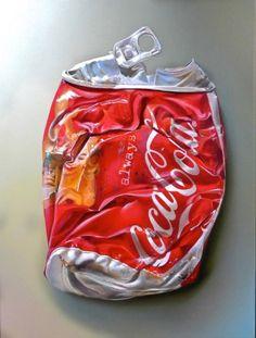 Coca Cola aplastada Hiperrealismo gastronómico