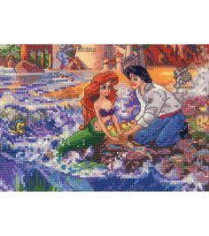 MCG Textiles Disney Dreams Collection Cross Stitch Kit Little Mermaid