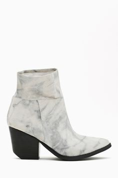 Jeffrey Campbell Roswell Ankle Boot - Gray Marble