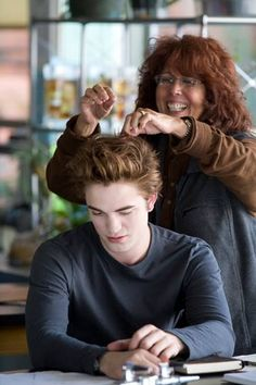Edward Cullen on set Twilight