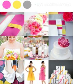 pink, yellow and grey inspiration