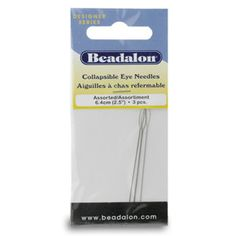 Beadalon Collapsible Eye Needles Variety Pack by BeadsFABUCRAFT, $3.99