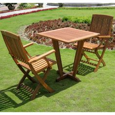 Add a touch of style and comfort to your outdoor furnishings with this bistro set. This dining set is built with durable, long-lasting yellow balau hardwood and is finished in a beautiful dark honey stain that is sure to impress your guests.