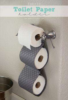 DIY Tissue Holder : DIY Fabric Toilet Paper Holder