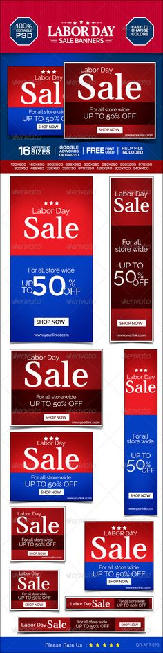 Labor Day Marketing Banners Template PSD   Buy and Download: http://graphicriver.net/item/labor-day-marketing-banners/8637775?WT.ac=category_thumb&WT.z_author=doto&ref=ksioks