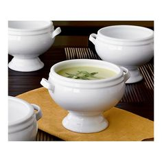 Crate and Barrel Footed Soup Bowl Creamed Asparagus, Soup Bowls With Handles, Spicy Soup, Bowl Of Soup, Pumpkin Soup, Dessert Bowls, Salad Bowls, Soups And Stews, New Recipes