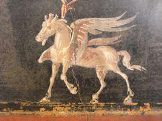 Pegasus, Ancient Roman fresco from Pompeii (79 AD). Naples Archaeological Museum.