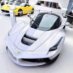 Stunning Ferrrari La Ferrari in white!
