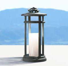 Avignon Round Lantern – Weathered Zinc