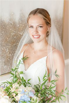 bride holds bouquet and smiles with veil wrapped around shoulders   Summer Minerals Resort wedding in Vernon NJ photographed by Idalia Photography, New Jersey wedding photographer. Planning an outdoor summer wedding? Find inspiration here! #MineralsResortWedding #RainyWeddingDay #SummerWeddingInspiration #IdaliaPhotography Nj Wedding Venues, Lodge Wedding, Vernon Nj, Crystal Springs, Wedding Hair And Makeup, Wedding Gallery, Brides And Bridesmaids, Intimate Weddings, Summer Wedding