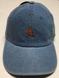 fd23cbdd Pepperoni Pizza Strapback Hat Denim Baseball Cap City Hunter Cheese  Headwear NWT