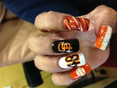 San Francisco Giants nail art - It's almost that time!!! 04/08/14 - Giants opening day!