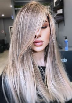 Ash Blonde Hair With Highlights, Blonde Hair Looks, Brown Blonde Hair, Hair Color Balayage, Blonde Color, Ombre Hair, Ash Hair, Sandy Blonde, Cool Ash Blonde