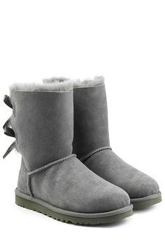 #UGG #Australia #Boots #Bailey #Bow aus #Schafleder #, #Grau für #Damen - Kein…