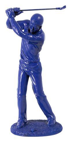Cód. 107.094 - Estatua Golfista Azul Fullway - 38x17x14