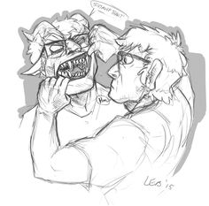 laur-rants:  Hunkle Gargoyle Grunkle. Jesus he shouldn't be this fun to draw.   Fun fact time! I really wanted to draw gargoyle teeth, since they are pointy but can break rocks, so I used hyena teeth and shoved them into a human mouth. It worked! I had fun redrawing one of gargrunk's sketches here.