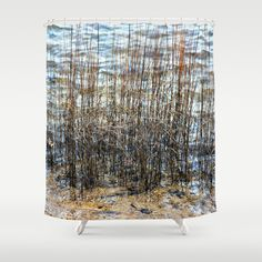 Sea Grass Shower Curtain By Judy Palkimas