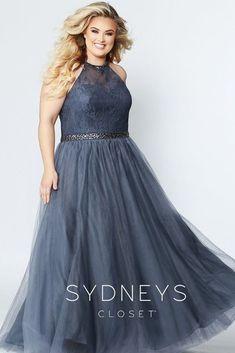 ce31b42ea4f Sydney s Closet SC7247. Lace BodiceA Line GownFormal ...