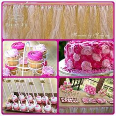 """Pink and Gold 1st Birthday #Eventstyling #partyplanning #kidsparties #kidsparty #firstbirthday #gold #pink #birthdayparty #pinkandgold #tututable…"""