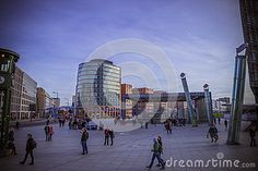 View of Postdamer Platz, Berlin, Germany.