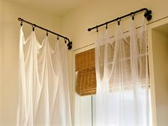 heavy duty swing arm curtain rod | home projects | pinterest