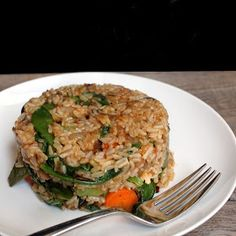 The Stay At Home Chef: Healthy Fried Brown Rice (Vegan)