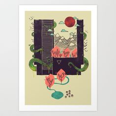 A World Within Art Print by Hector Mansilla - $18.00