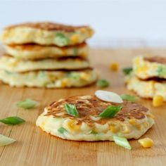 Savory corn cakes are the perfect side dish to a Southwestern meal