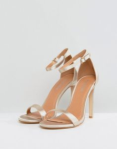 8937532f4ec Public Desire Avril Satin Barely There Heeled Sandals