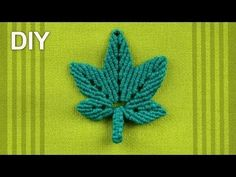 Stylized HEMP LEAF (DIY) - YouTube