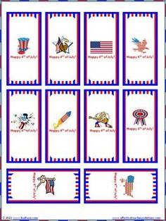 FREE 4th of July Mini Candy Bar Wrappers