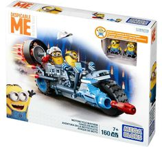 Mega Bloks MINIONS Despicable Me Motorcycle Mayhem 160 PC Building Set #DPG71 #MegaBloks