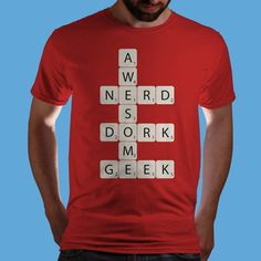 This is the perfect Nerdfighter shirt. DFTBA! Buy the Awesome Scrabble t-shirt on www.Qwertee.com for $12.00