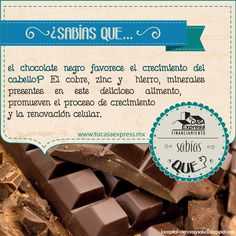 ¿Sabías que… el chocolate negro ayuda a que tu cabello crezca?