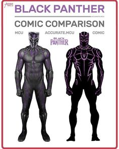 "59.2k Likes, 986 Comments - • Accurate.MCU • mcu fanpage (@accurate.mcu) on Instagram: ""• BLACK PANTHER - COSTUME COMPARISON • A lot of people suggested to compare Black Panther's civil…"""