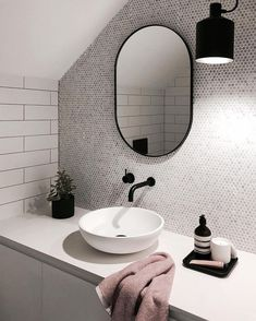 White Bathroom Ideas - Discover the leading best white bathroom ideas featuring distinct faucet, fixture and also decor accents. Discover tidy as well as distinct home interior decoration ideas. Bathroom Renos, Laundry In Bathroom, White Bathroom, Bathroom Interior, Modern Bathroom, Small Bathroom, Master Bathroom, Washroom, Loft Bathroom