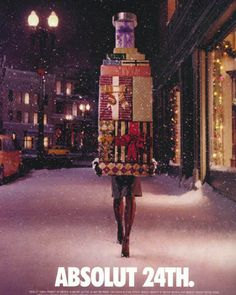 They did Chrismas well. | The Best Of The Great Absolut Ads