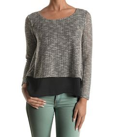 Another great find on #zulily! Black Knit Swing Top by Lila #zulilyfinds