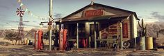 // Making Of 'Desert Gas Station' by Eugenio Garcia