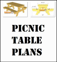 Traditional picnic table plans, free PDF download, includes how-to drawings, step-by-step details, shopping list and cut list Diy Picnic Table, Picnic Table Plans, Weekend Projects, Pdf, Traditional, How To Plan, Drawings, Free, Shopping