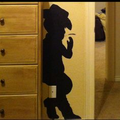 Cowboy Room: vinyl decal for the wall