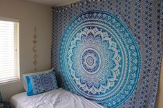 Amazon.com: Hippy Throw Mandala Tapestry Indian Wall Hanging, Tapestry, Bohemian, Tapestries, Queen Bedsheet Bedspread Hippie Wall Decor Wall Tapestry: Home & Kitchen   @giftryapp