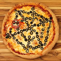 Halloween Spiderweb Pizza {Halloween Dinner Ideas on The Weary Chef}