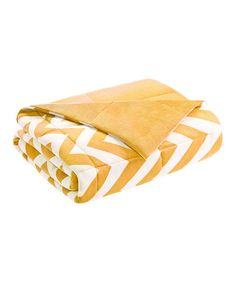 Another great find on #zulily! Yellow Zigzag Reversible Throw #zulilyfinds