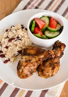 Jamaican Jerk Chicken with Rice and Peas made Slimming World friendly just for you. A dish that brings many childhood memories for me.