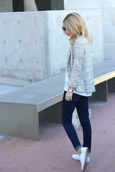 Sneakers Casual Frühlingsoutfit