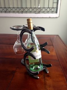 Horse Shoe Wine Rack by DonnellyFarms on Etsy