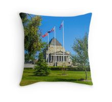 The Shrine of Remembrance - Melbourne, Victoria Throw Pillow