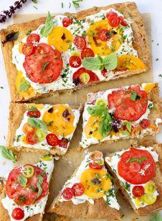 Tomato Tart Recipe with Goat Cheese & Puff Pastry | CiaoFlorentina.com @CiaoFlorentina