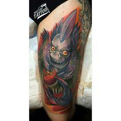 anime Death note Ryuk by Paul art tattoo #paularttattoo #deathnote #ryuk #deathnotetattoo #ryuktattoo #deathnoteryuk #tattoo #cartoontattoo #animetattoo